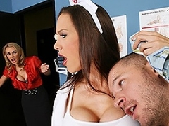 Scott hates doing oral presentation and is nurse McKenzie's office...