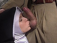 Shy European Nun gets her ass screwed good and hard