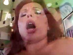 Butt fucking Creampie Redhead