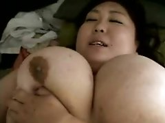 Fat Japanese beauty with huge boobs