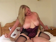 Nothing is compare to this luscious old granny slut when it comes to...