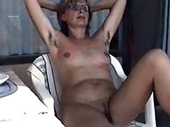 MARION from bushy Germany with unshaven Armpits 01 - Nackt-Schlampe