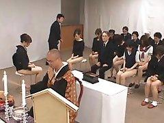 Asian girls go to church half nude part5