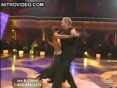 Ebony Beauty Cheryl Burke Dancing In a Revealing Black Dress