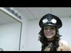 Live nude gals with darksome hair and innocent smiling face !!