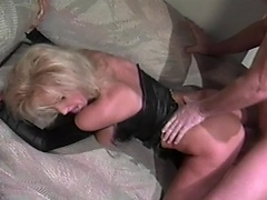 Voluptuous blonde bitch gets to do some nasty fun with this hunky guy...
