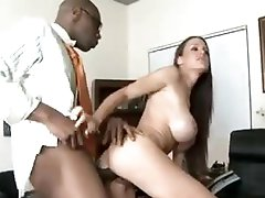 That babe takes biggest black cock in front of hubby
