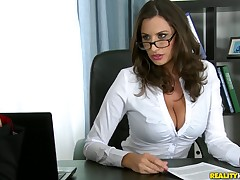 Boobalicious Sensual Jane hammered deep in the brush pulsating wet pussy