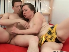 Fat mom is a limber cock riding cock bitch