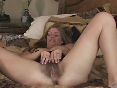 Mommy is thrilled unconnected with showing wanting her big bush