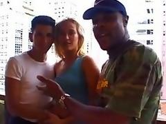 Interracial Cuckold - Afroamerican spit recording to Brazilian Deck on