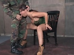 Taking off the prisoners fighter thither fuck her face
