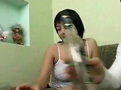 Inebriating Russian Chick Gets Fucked