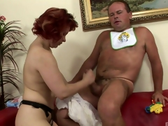 She dresses him just about a diaper gear up pegs him just about the wazoo