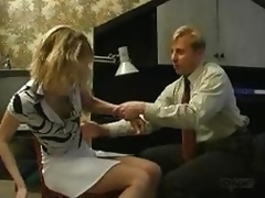 russian bussinessman atack blond girl