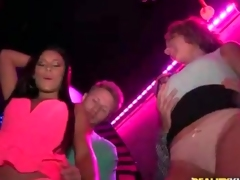 Sluts arrive at the club for wicked dancing