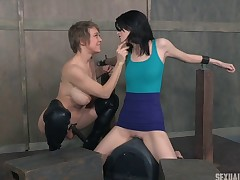 Attractive lady's synod ravished by a master breasty girl friend