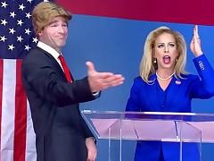Trump gone laughable mainly hot beauteous satirize with Cherie DeVille