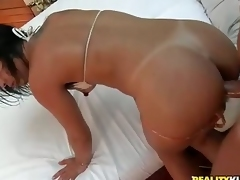 Tiny titted brazilian bikini girl Fabiana gets nailed