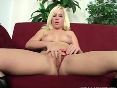 Slutty youthful blonde relishes the pleasure a socking dark dick provides