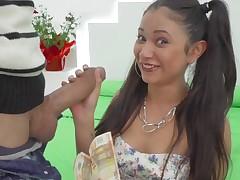 Young Jade Preesleyy enjoys ripping and a huge horseshit