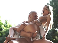 Enjoyable waiting European blonde needs some anal fucking outdoors