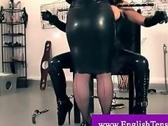 Mistress ties and cuffs trans lackey