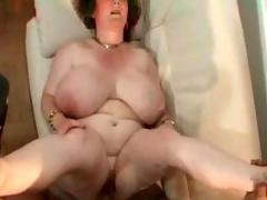 Granny almost big tits.belly &,amp, glasses